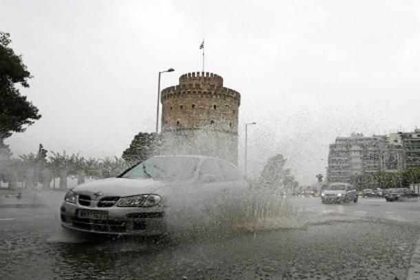 Αποτέλεσμα εικόνας για θεσσαλονικη βροχη
