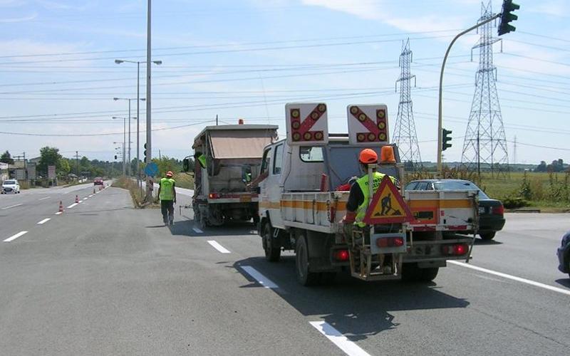 Αποτέλεσμα εικόνας για Εργασίες οριζόντιας σήμανσης στην 16η Εθνική Οδό Θεσσαλονίκης-Πολυγύρου από την Περιφέρεια Κεντρικής Μακεδονίας