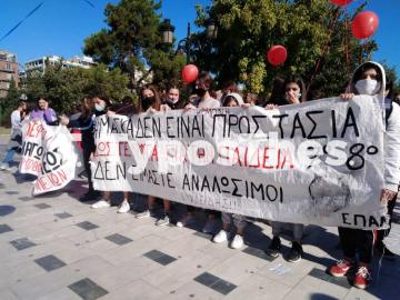 Θεσσαλονίκη ΤΩΡΑ: Πορεία μαθητών στο κέντρο (ΦΩΤΟ), φωτογραφία-7