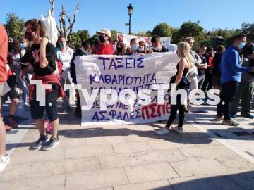 Θεσσαλονίκη ΤΩΡΑ: Πορεία μαθητών στο κέντρο (ΦΩΤΟ), φωτογραφία-9